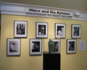 The Ulmann photo wall at the Waco and The Bybees exhibit, open now at the Hopewell Museum in Paris, Ky.