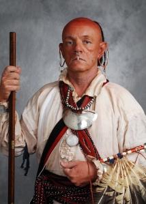 Atta kul kulla, Cherokee peace chief, portrayed by Robert K. Rambo