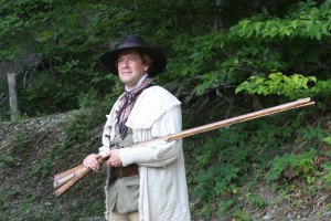 Scott New portrays Daniel Boone for Kentucky Chautauqua. Photo by Alan Meadows